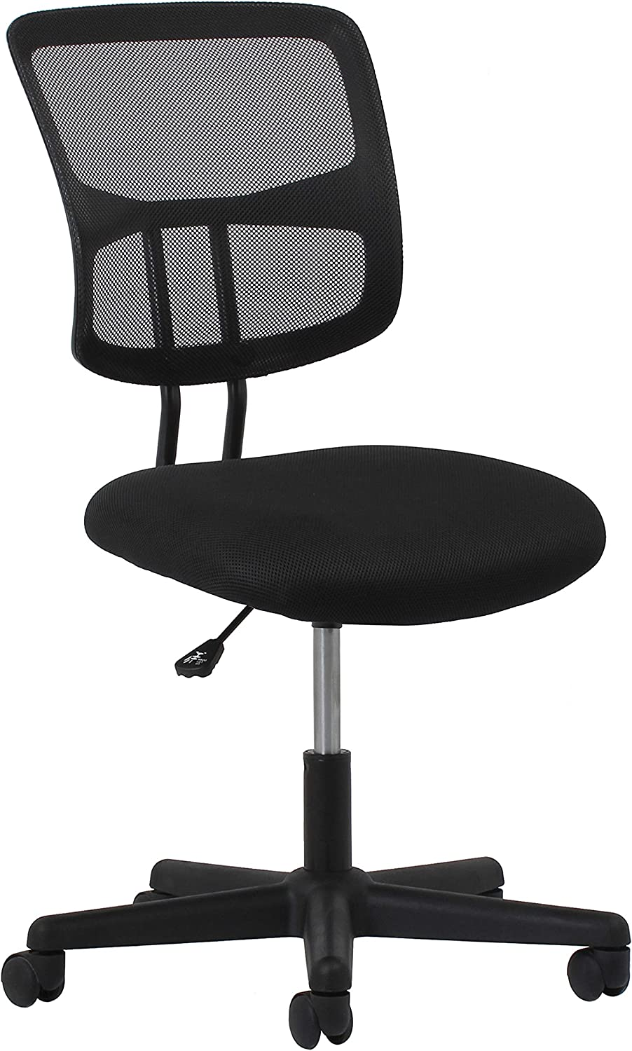 Essentials Swivel Armless Mid Back Mesh Task Chair – Ergonomic Computer Office Chair
