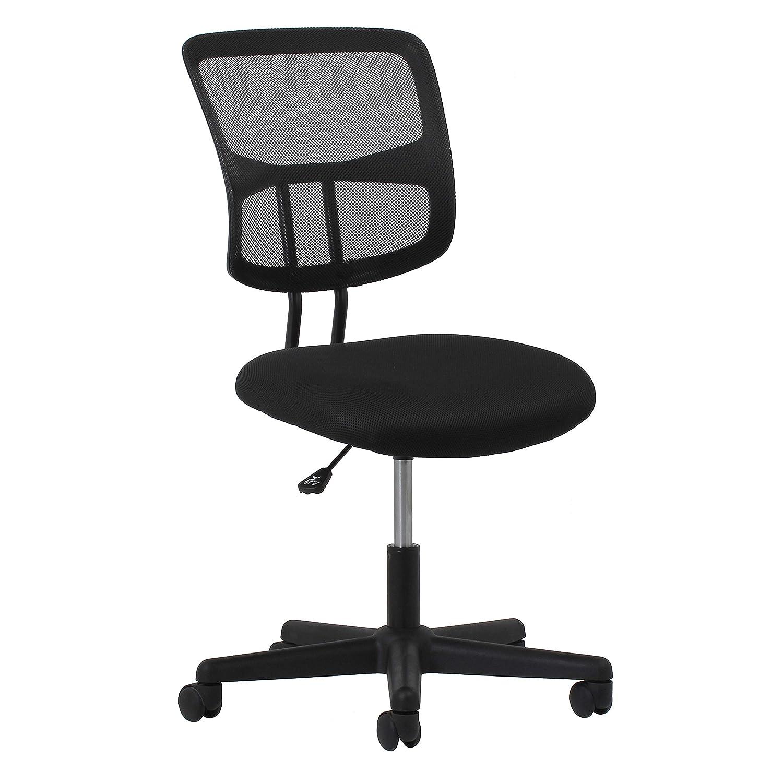 Essentials Swivel Armless Mid Back Mesh Task Chair – Ergonomic Computer Office Chair