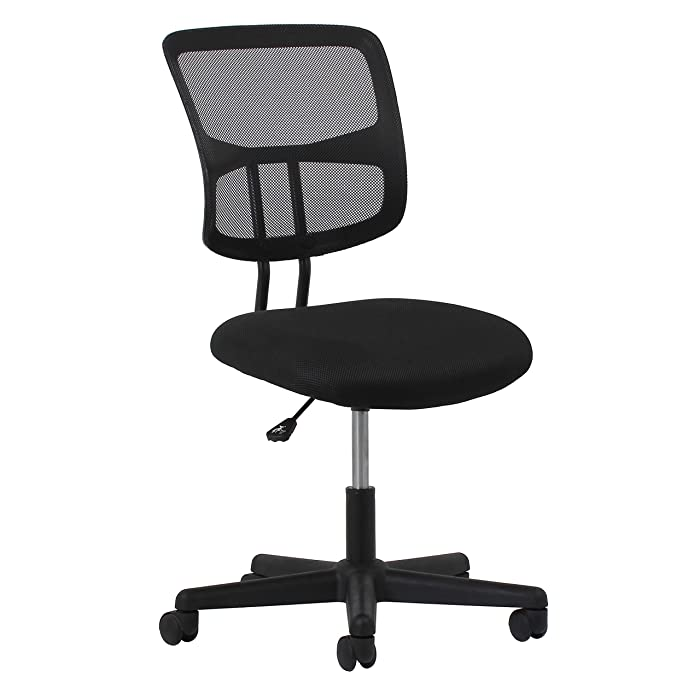 Essentials Swivel Armless Mid Back Mesh Task Chair - Ergonomic Computer/Office Chair (ESS-3020)