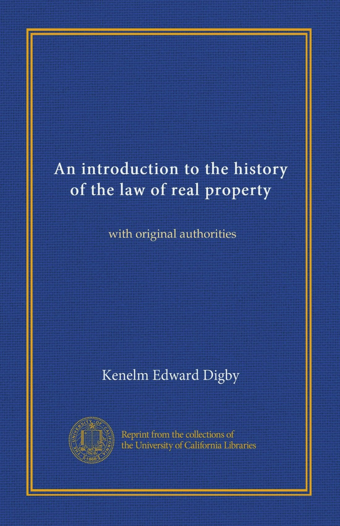An introduction to the history of the law of real property: with original authorities pdf