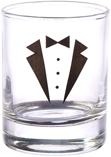 5aab4de651e Kate Aspen GS Tuxedo Shot Glass (Set of 4), Clear