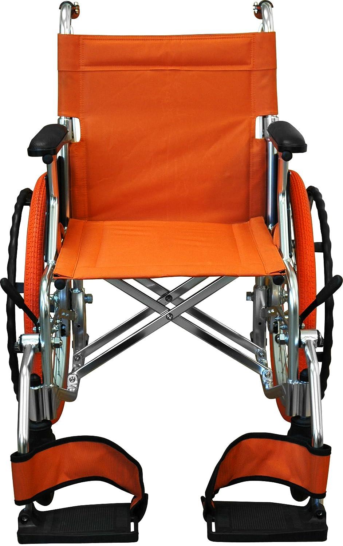 チノンズ コンパクト自走用車いす Palet(パレット) オレンジ B00CZ0XW1C オレンジ オレンジ