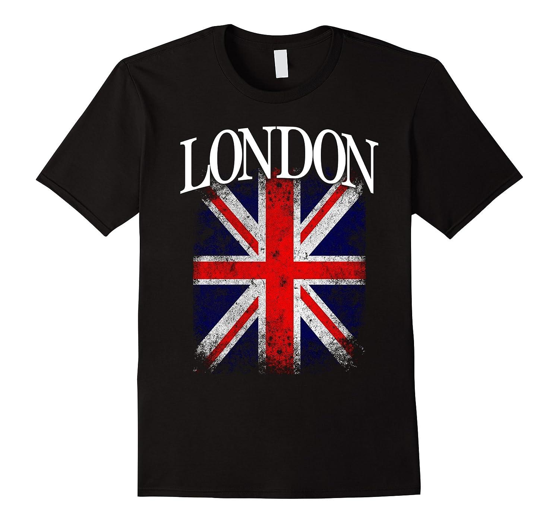 London England British Flag Vintage Union Jack T Shirt CL