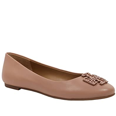 Amazon.com | Tory Burch Melinda Ballet Classic Flat Leather TB Logo Shoes |  Flats