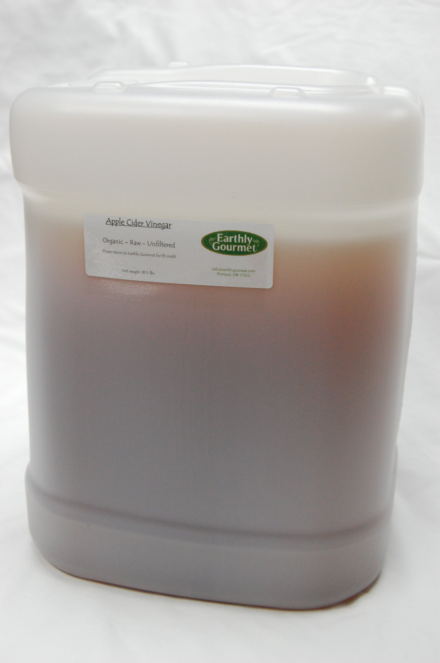 Raw Organic Apple Cider Vinegar - 5 Gallons by Earthly Gourmet