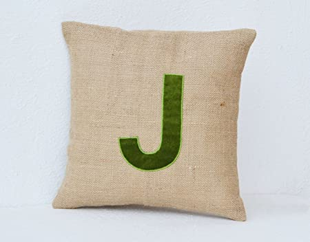 Customised Monogram Cushion Covers Jute Cushion Covers Velvet Adorable Initial Pillow Covers