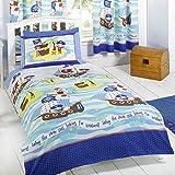 Parue de lit 1 personne/enfant Pirates - housse de couette et taie d'oreiller