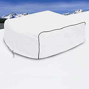 Classic Accessories 77410 RV AC Cover, White, For Coleman Mach I, II & III, Mach 3 Plus, Mach 15, Roughneck & TSR,Snow White