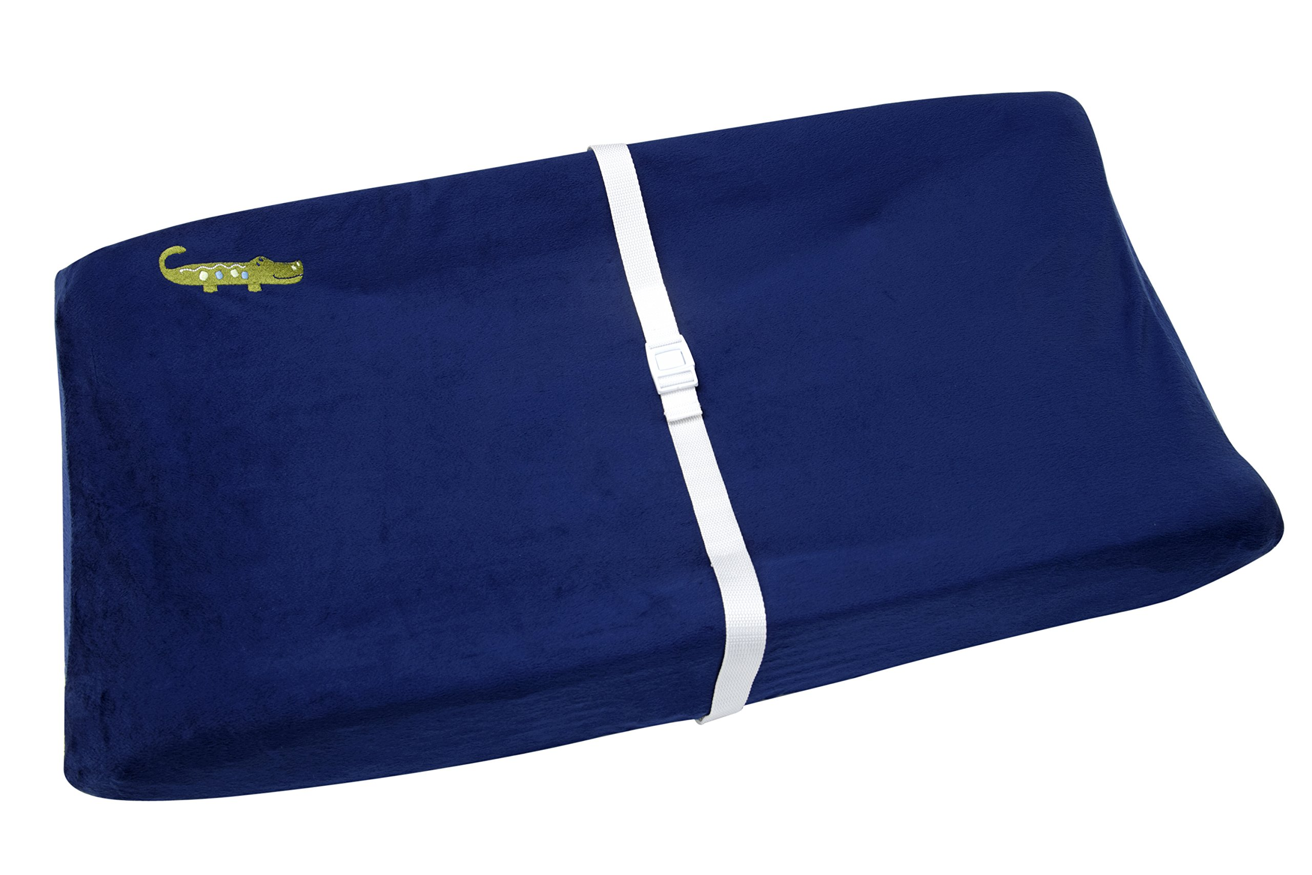 NoJo Alligator Blues Contoured Changing Table Cover