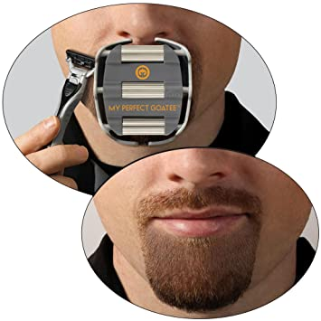 amazon com my perfect goatee men s goatee shaving template by