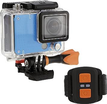 Rollei Actioncam 420 - Cámara Deportiva, resolución de vídeo de 4K, WiFi, Incluye Control Remoto y Carcasa Resistente al Agua (40 m), Color Azul