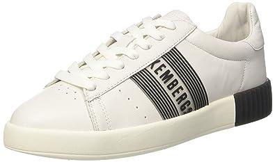 Bikkembergs Cosmos 2130, Baskets Femme, Blanc (White/Pink 830), 38 EU