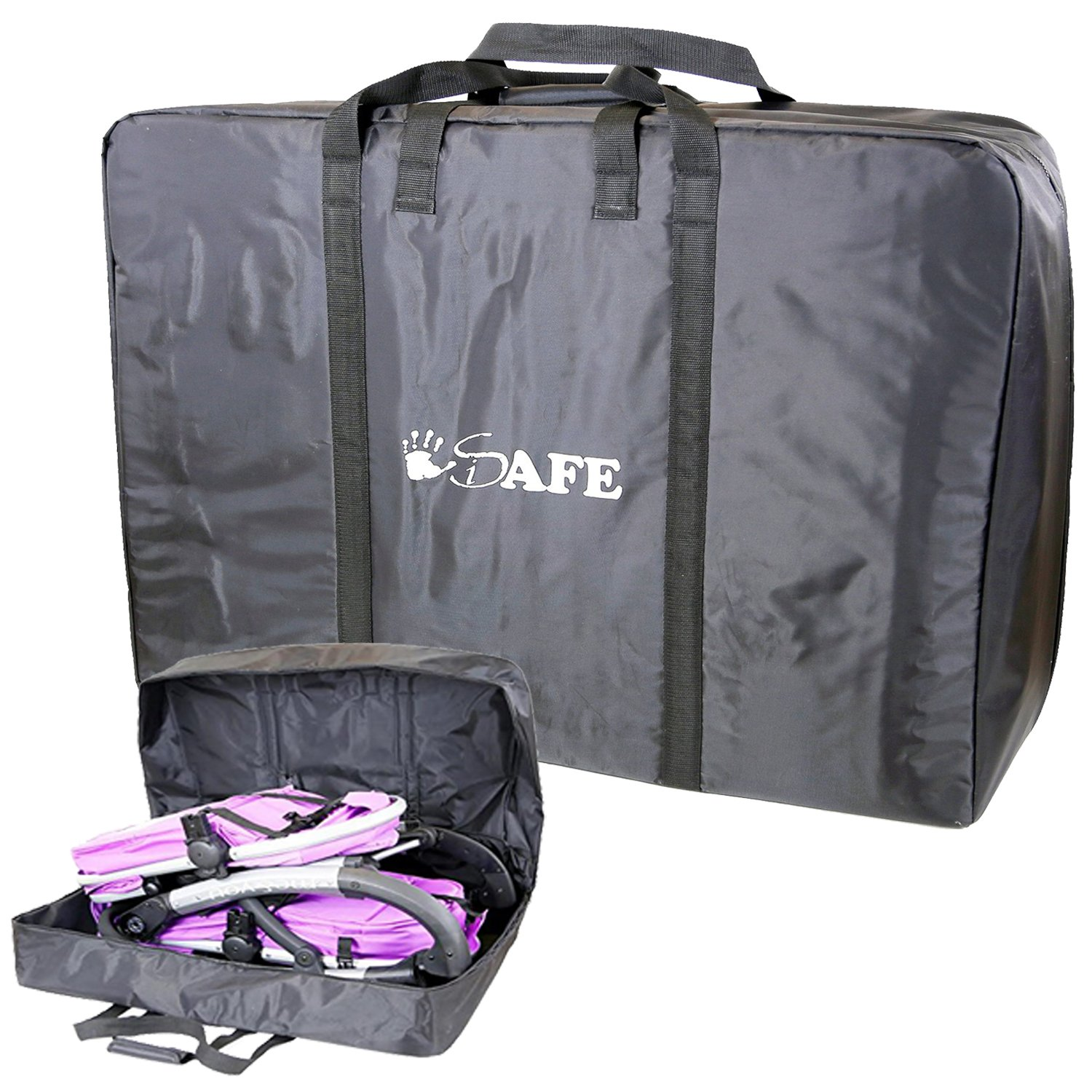TWIN/INLINE/DOUBLE Travel Bag Luggage Heavy Duty Design For Inline Tandem Travel Tote iSafe iSafeTrvlBagPram-1