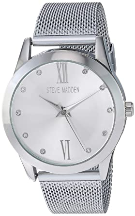 35a98f603bc Amazon.com  Steve Madden Women s Quartz Metal and Alloy Watch