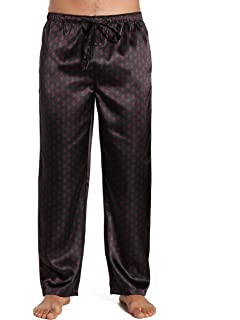a94c4ada621 Lonxu Mens Silk Satin Pajamas Pyjamas Pants Sleep Bottoms Free p p S ...