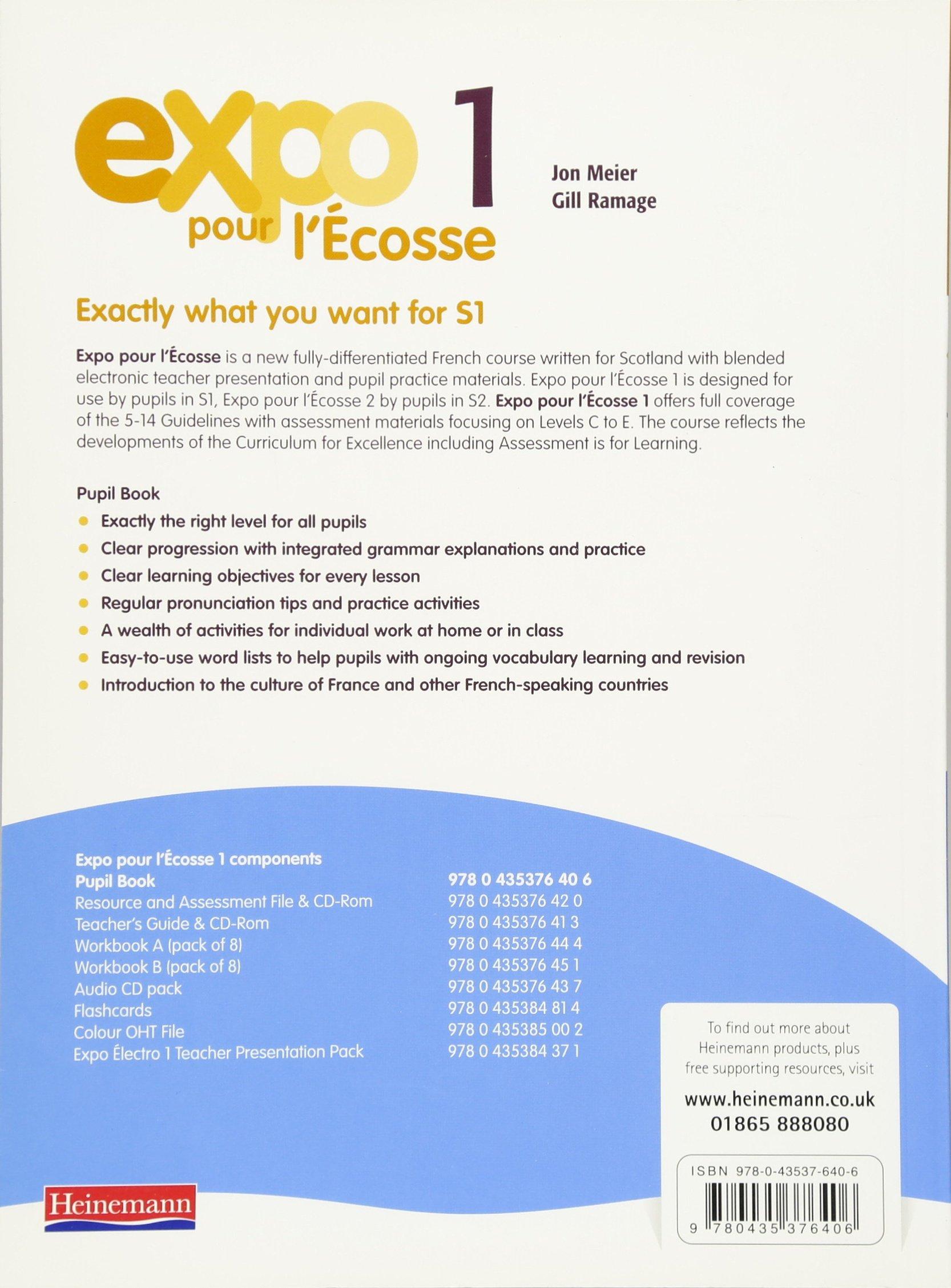 expo pour l ecosse pupil books for s1 and s2 bk 1 jon meier rh amazon com Teacher Resource Guide Teacher Black Students Guide