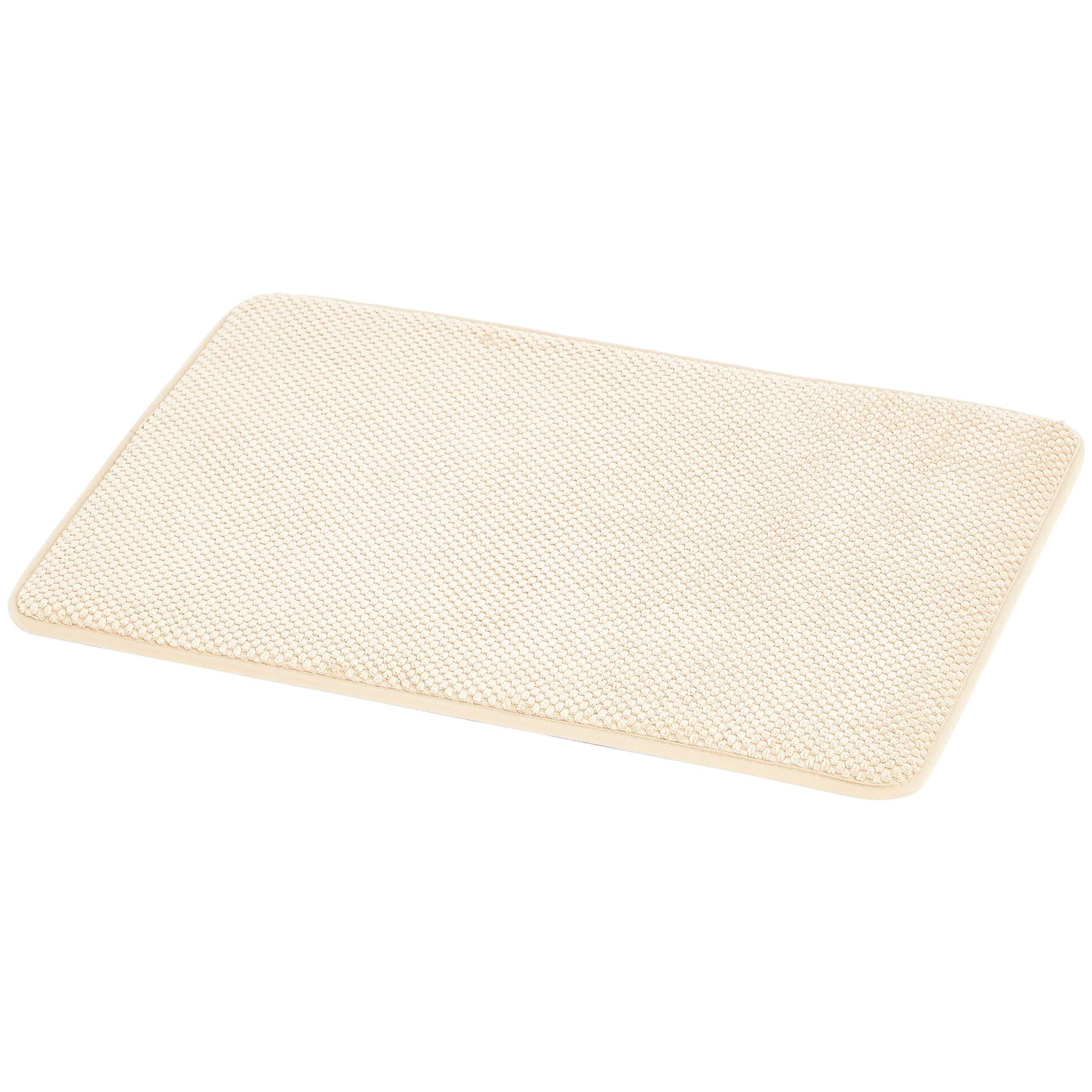 AmazonBasics Textured Memory Foam Bath Mat - Small, Beige