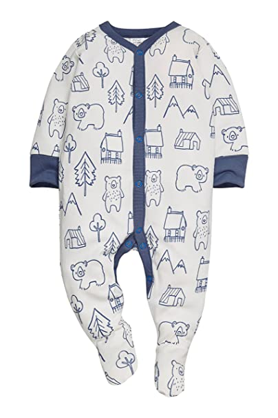 next Bebé-Niños Pack De Tres Pijamas Oso Azul Marino (0 Meses-2