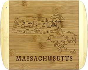 Totally Bamboo A Slice of Life Massachusetts Bamboo Serving and Cutting Board
