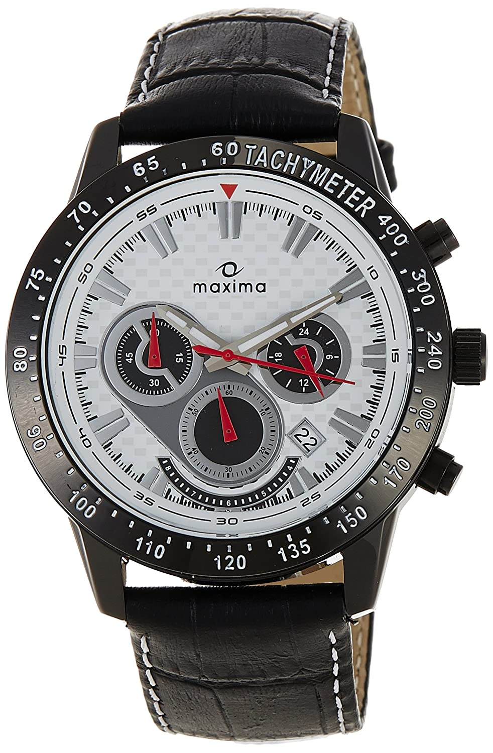 Maxima Attivo Chronograph White Dial Best Mens Watches Under 5000 in India to buy in 2019 - Reviews & Buyers Guide