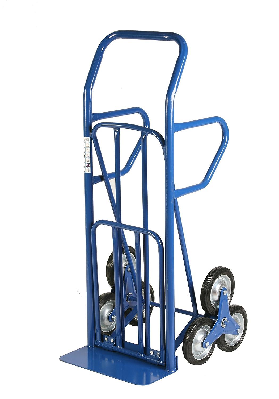 Archimede HT Wagen umwandelbar für Treppen, Metall, Blau, 55x 80x 140cm Serena Group HT4028
