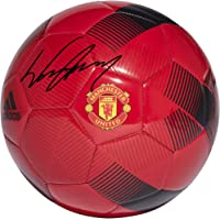 $169 » Wayne Rooney Manchester United F.C. Autographed Red Adidas Soccer Ball - Fanatics Authentic Certified