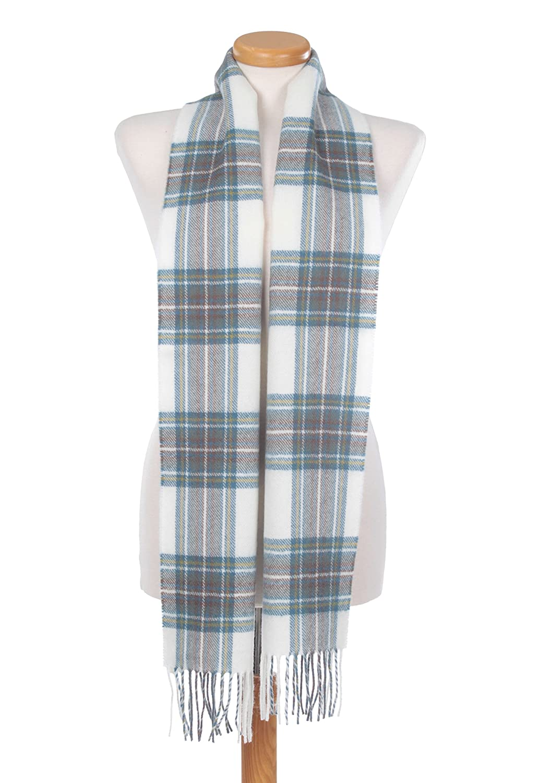The Tartan Blanket Co。スコットランドLambswool Scarf StewartブルードレスTartan B01D061NI8