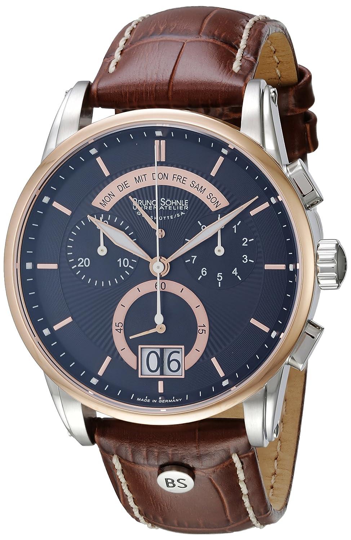 Bruno SÖhnle Herren-Armbanduhr XL Grandioso Chronograph Quarz Leder 17-63117-745