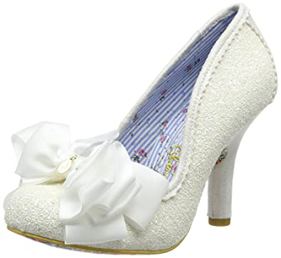 646633c82ae31 Irregular Choice Womens Ascot Wedding Bridal Glitter White Court Shoe - 5.5  - White