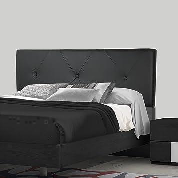 SERMAHOME- Cabecero Toledo tapizado Polipiel Color Negro. Medidas: 110 x 55 x 7