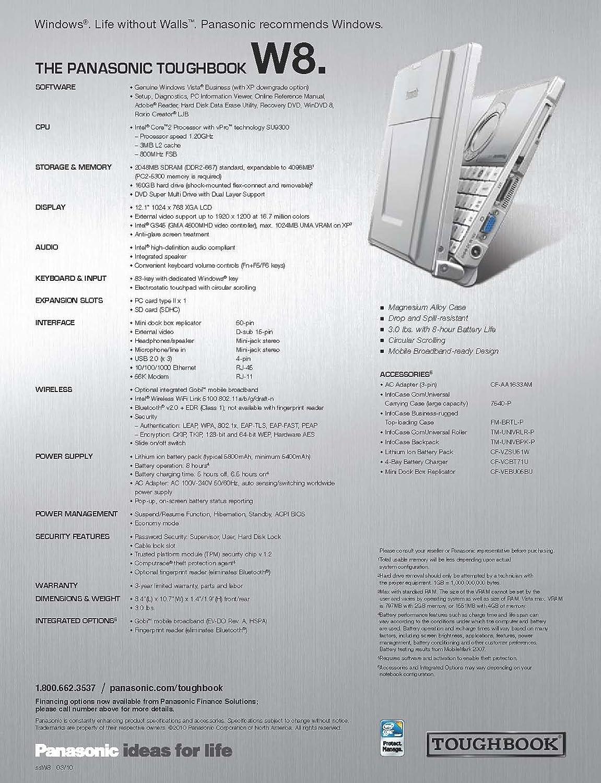 Panasonic Toughbook CF-W8 12.1-Inch Laptop