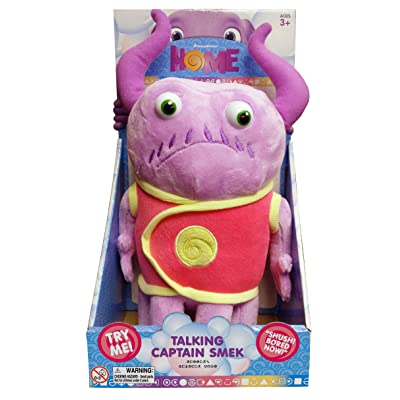 Dreamworks home - Talking Captain Smek Plush Toy - Squeeze His Tummy To Hear 5 Key Phrases from the Movie - Lightweight, Soft, Cuddly Toy - Makes for a Great Travel Buddy: Toys & Games