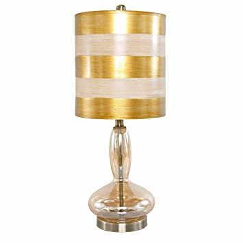 Glass Base Table Lamps Classy Amazon 6060H Golden Art Deco Handblown Curved Glass Base Table