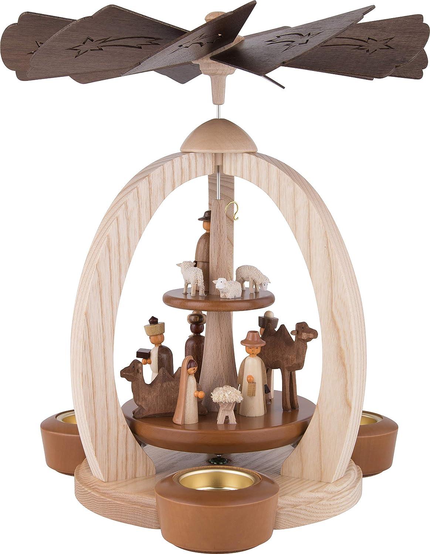 2-stöckige Weihnachtspyramide Christi Geburt Exklusiv - 28 cm cm cm - 100% Erzgebirge Pyramide ba8eac