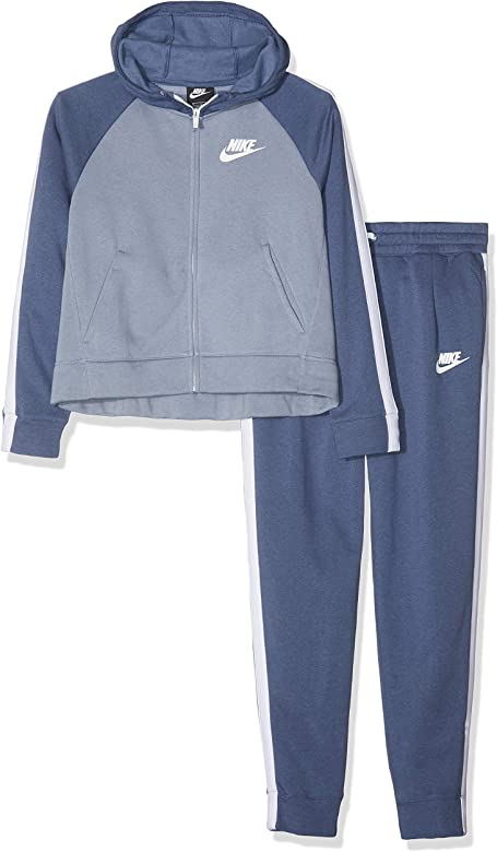 Nike G NSW TRK PE Chándal, Niñas, Azul/Blanco (diffused/Ashen ...