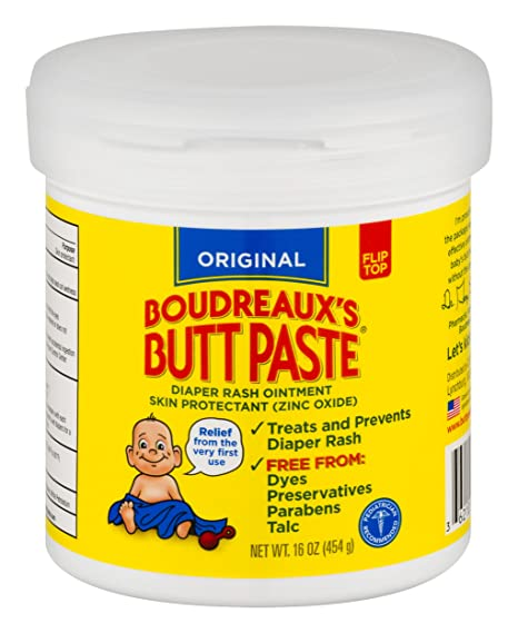 Amazon.com : Boudreaux's Butt Paste Diaper Rash Ointment - Original - Contains 16% Zinc Oxide - Pediatrician Recommended - Paraben and Preservative-Free - 16 Ounce ( Packaging May Vary ) : Diaper Creams : Beauty