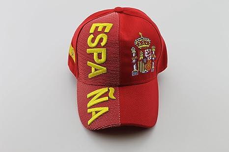 Em 2016 de béisbol Caps Gorro Base Cap España Rojo País Nombre en 3d aspecto: Amazon.es: Deportes y aire libre
