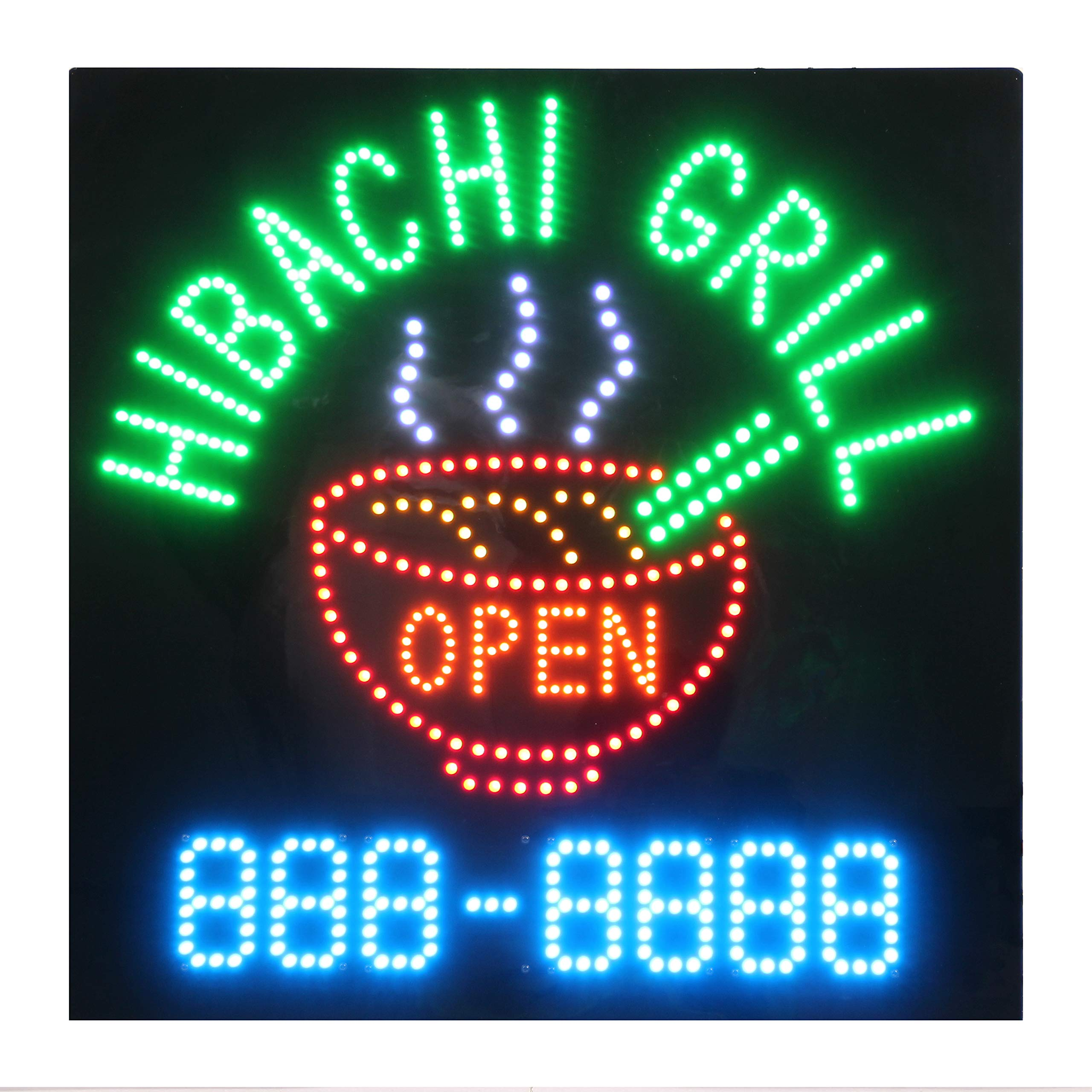 LED Hibachi Grill Open Light Sign by HIDLY