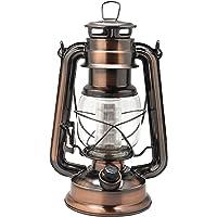 YAKii Vintage Style 12-LED Metal Oil Lamp,Hurricane Lantern(Antique Copper)