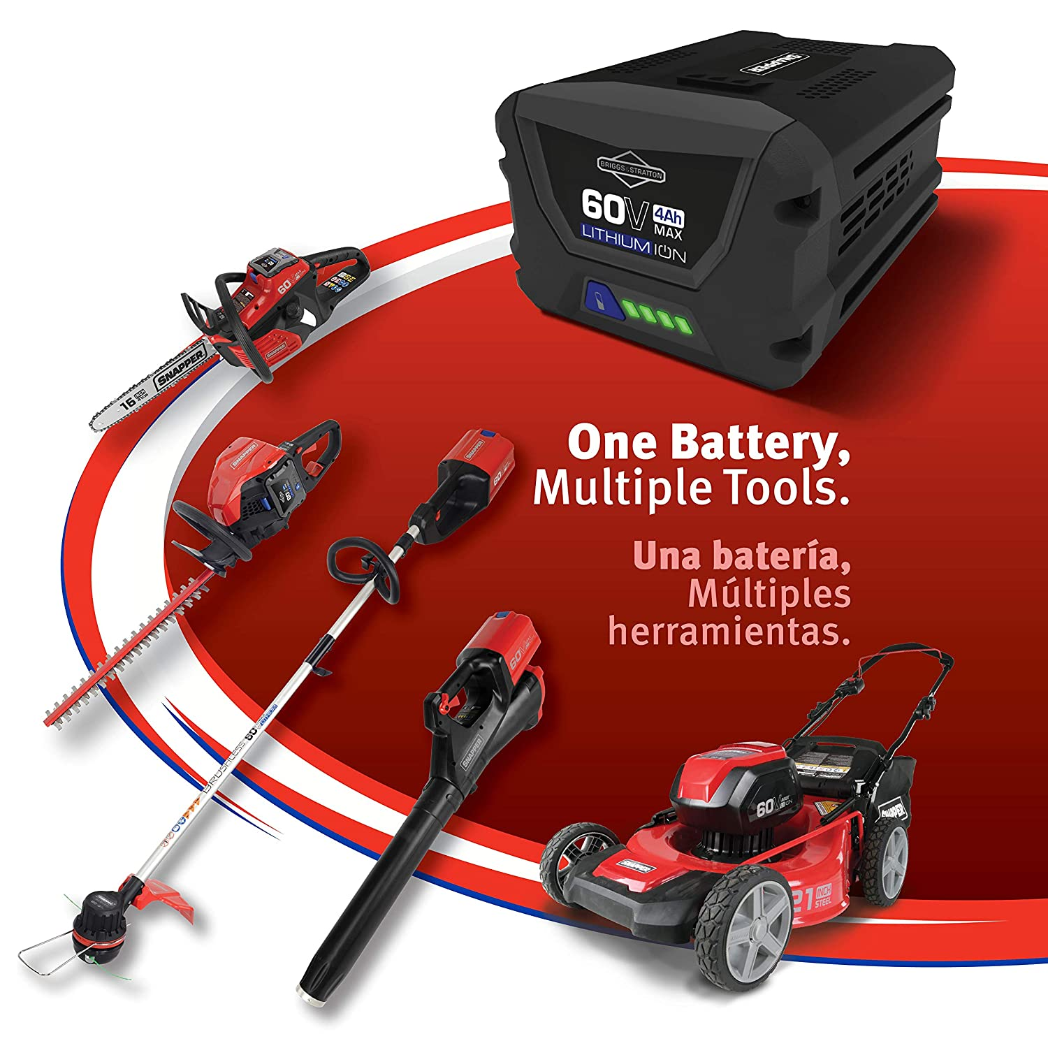 Snapper 60V Charger Max Li-ion Battery