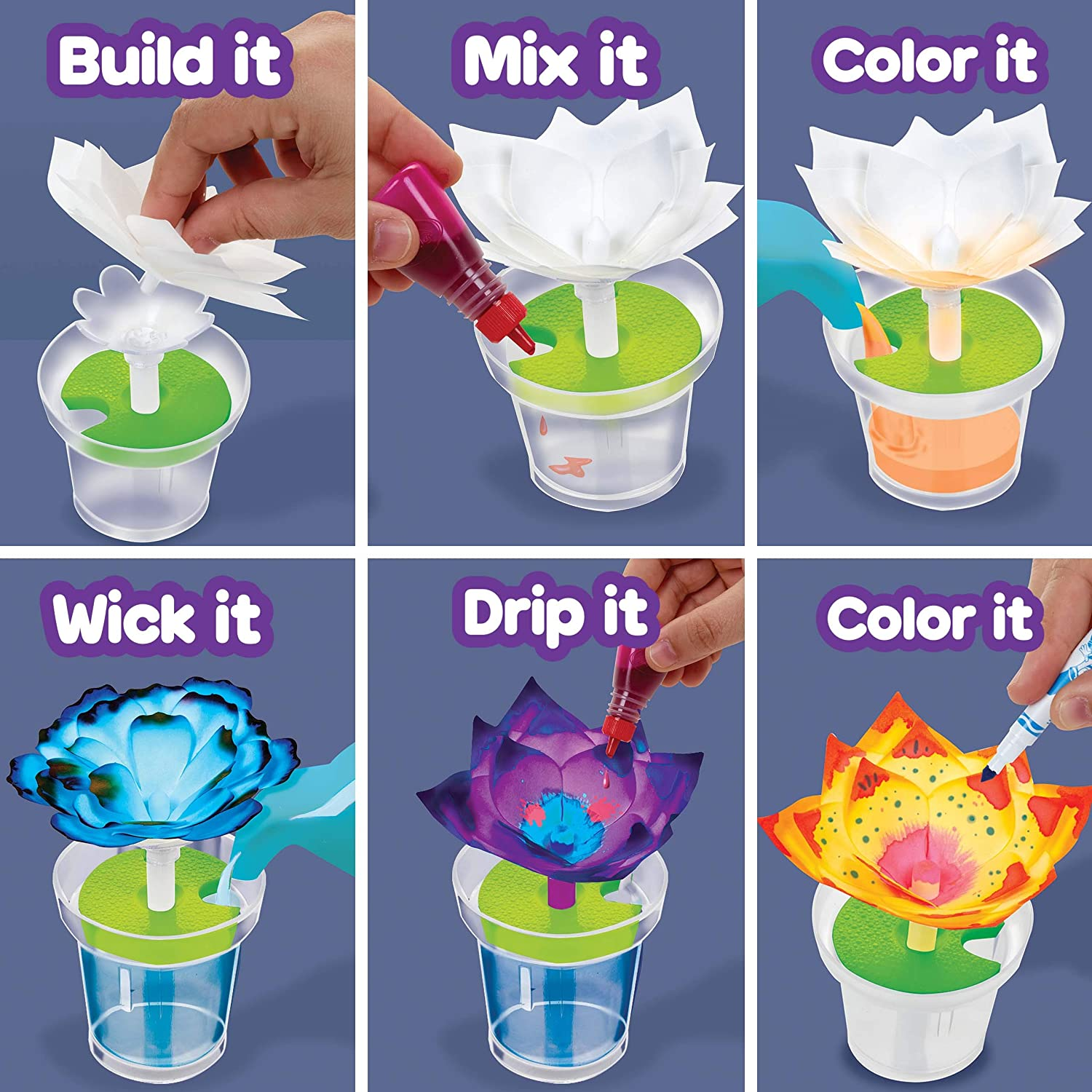 Gift for Kids Ages 7 8 Color Changing Flowers Multi Crayola Paper Flower Science Kit 10 9