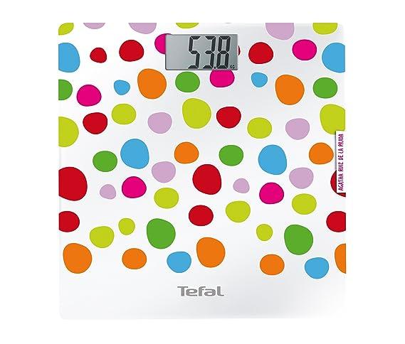Tefal PP1122 - Báscula de baño (70 x 32 mm, Multi, Color blanco, 30 cm, 29 cm, 3V): Amazon.es: Salud y cuidado personal