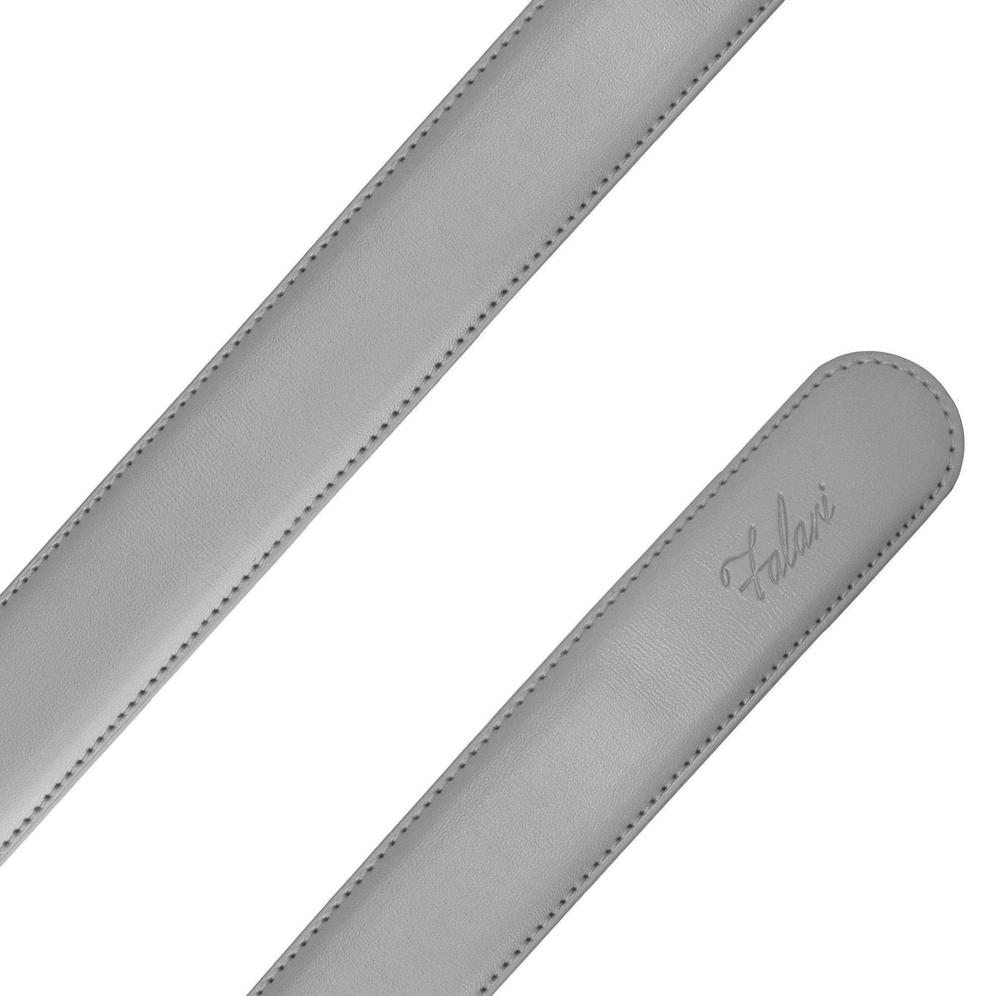 Falari Men's Leather Ratchet Belt Strap 8004-LGY-L40 by Falari (Image #4)