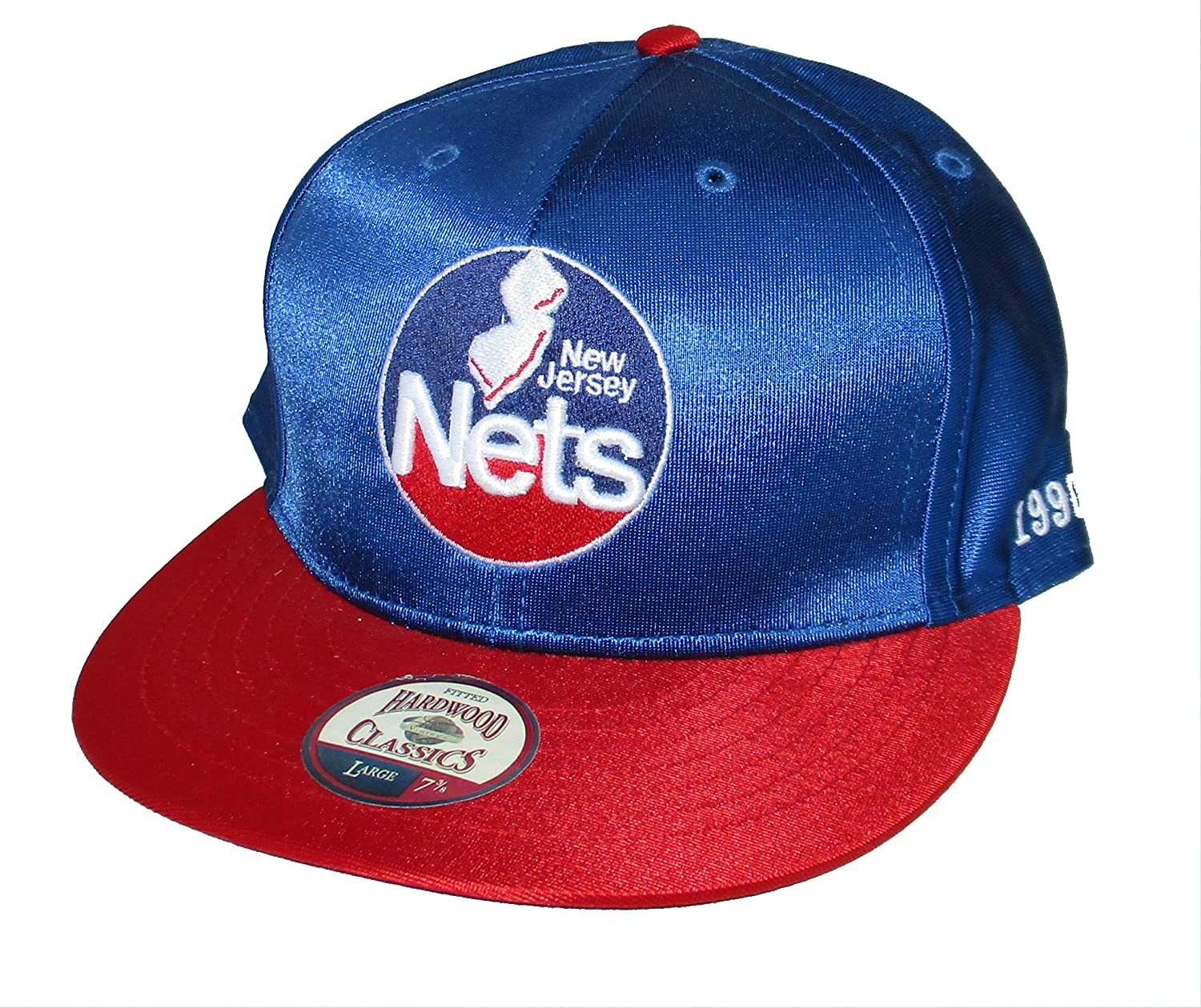 a1ddeff22112 Amazon.com    47 New Jersey Nets Fitted Size 7 3 8 Hat Cap - Blue   Sports    Outdoors