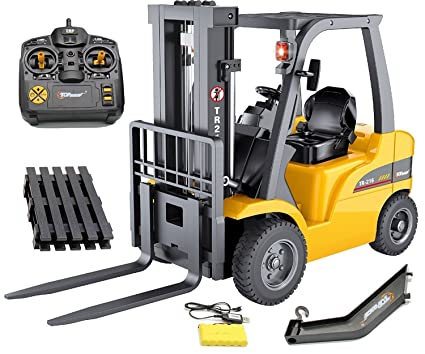 amazon com top race jumbo remote control forklift 13 inch tall 8