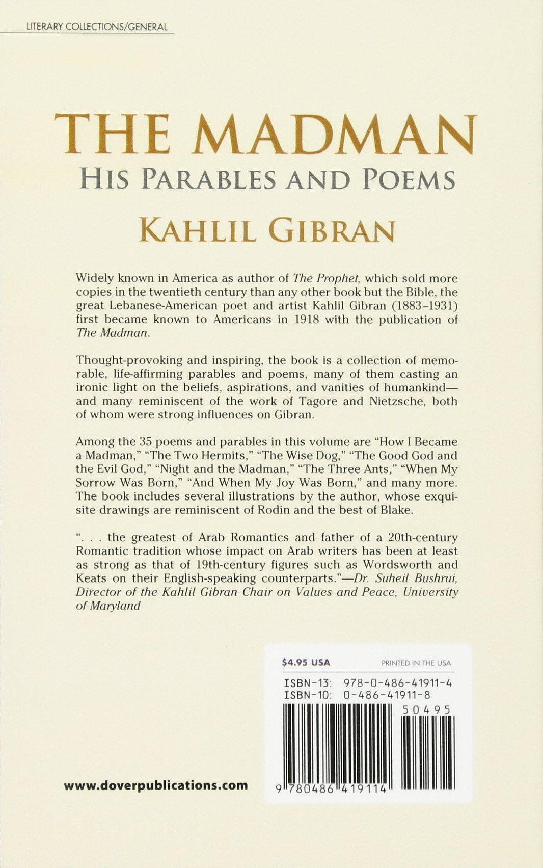 The Madman: His Parables and Poems: Kahlil Gibran