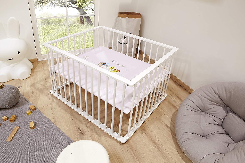 Ticaa Baby Laufgitter Kiefer Weiß