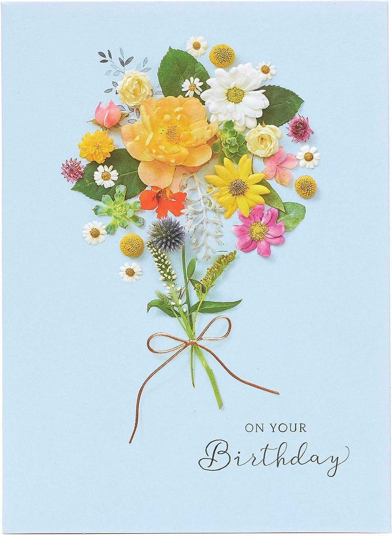 Gibson - Floral Posy On Your Birthday - Birthday Card