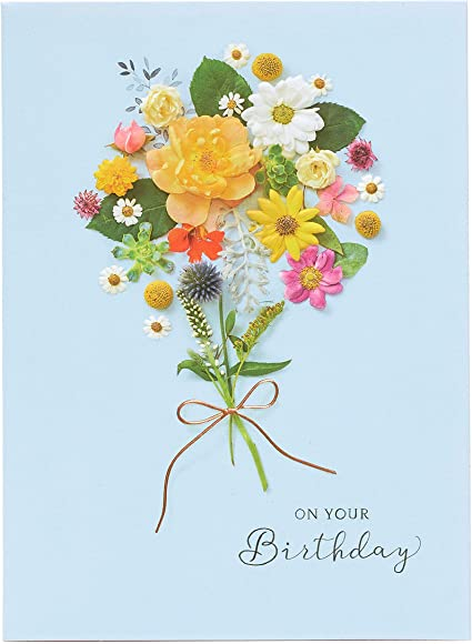 Birthday Card For Her Female Birthday Card Pretty Floral Design Amazon Co Uk Office Products