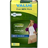 Depend FIT-FLEX Incontinence Underwear for Women, Maximum Absorbency, S/M, (Packaging May Vary)